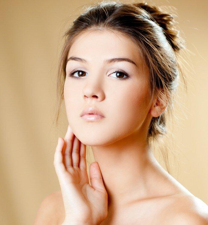 Woman with a beautiful natural makeup look.