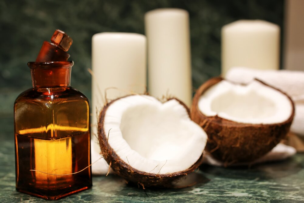 Coconut oil in  spa setting