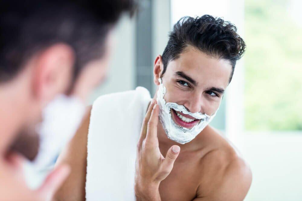 man shaving